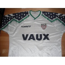 Sunderland away top 1992 Vaux Hummel White green
