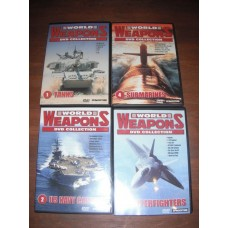 World Weapons DVD Collection (4xDVD) Superfighters Submarines US Navy Carriers Tanks
