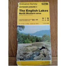 Ordnance Survey Outdoor Leisure 4 - The English Lakes North Western Area