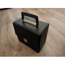 "Black Retro Record Case Holds 35 7"" VINYL 45s"