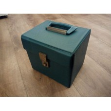 "Green Teal Retro Record Case Holds 50 7"" VINYL 45s"