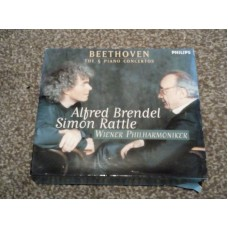 Beethoven: The Piano Concertos 3xCD Simon Rattle Alfred Brendel