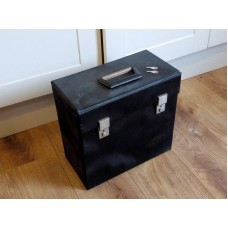 "Black Retro Record Case ( Holds 50 - 12"" VINYL)  LP"