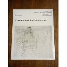 A Decade with Ben Nicholson Art Exhibition Catalogue 1963 Gimpel Fils London