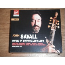 Jordi Savall Collection: Music in Europe 1550 - 1650 - Hesperion XX (5xCD)