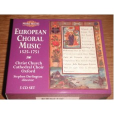 European Choral Music 1525-1751 - Christ Church Choir Stephen Darlington (5xCD)