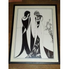 Aubrey Beardsley John and Salome Framed Print 45cmx33.5cm