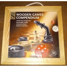 Wooden Games Compendium Chess Backgammon Draughts Checkers Dominoes