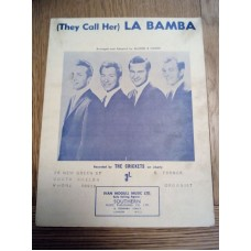They Call Her La Bamba The Crickets - sheet music