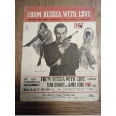 From Russia with Love Matt Monro - sheet music - Lionel Bart