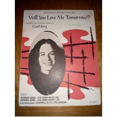 Carol King Will you love me tomorrow - sheet music - Gerry Goffin