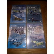 The Royal Air Forcce Story Great British Jets Spitfire Story of Flight (4xDVD)