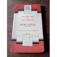 Vintage Ordnance Survey One Inch Map Sheet 78 Newcastle 1961 Mounted on Cloth