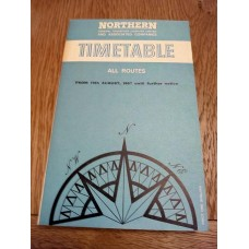 Northern General Transport Company Timetable All Routes 19th August 1967