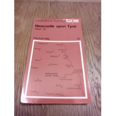 Vintage Ordnance Survey One Inch Map Sheet 78 Newcastle