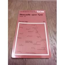 Vintage Ordnance Survey One Inch Map Sheet 78 Newcastle