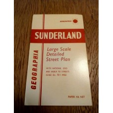 Sunderland Large Scale Detailed street Plan - Geographia map