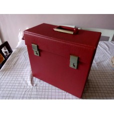 "Retro Record case holds 50 - 12"" LPs VINYL Red"