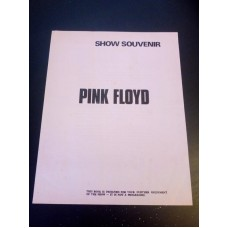 Pink Floyd Show Souvenir Programme 1972 Dark Side Of The Moon tour