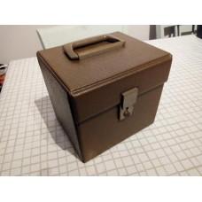 "Brown Vintage Retro Record Case Holds 50 7"" VINYL 45s"