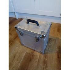 "Silver Aluminium Record LP Case Holds 50-60 12"" VINYL"