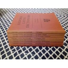 Oxford Latin Dictionary Clarendon Press 1968 Books 1-8