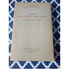Carnet De Vocabulaire Latin (VOCABULAIRE De Base Du Latin) Maurice Mathy 1952