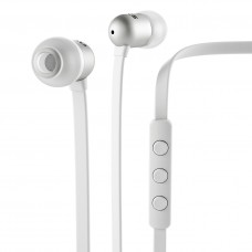 Nocs - NS400 Aluminum White 8mm With Remote and Mic made for Ipod Ipad Iphone