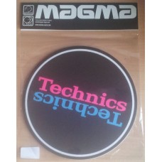 Technics Slipmat Duplex 5 : Pink / Blue Mirror on Black (Pair)