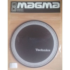 Technics Slipmat Strobe 3 : Silver on Black (Pair)
