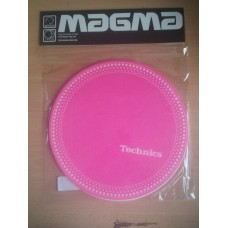 Technics Slipmat Strobe 1:White Dots on Pink (Pair)